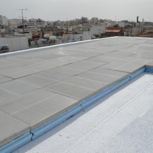 Εφαρμογή θερμομονωτικού πλακιδίου σε ταράτσα – Αθήνα (Αμπελόκηποι)